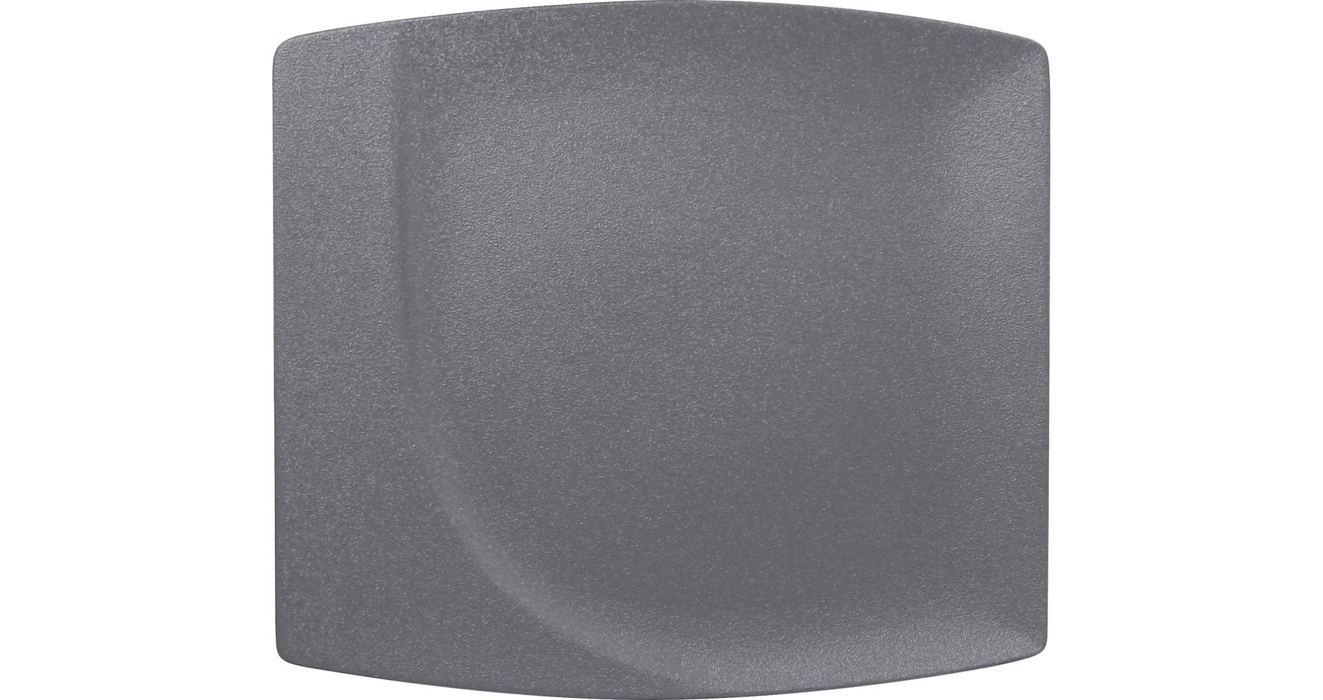 Neofusion, Teller flach quadratisch 320 x 290 mm stone
