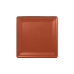 Neofusion, Teller flach quadratisch 300 x 300 mm terra