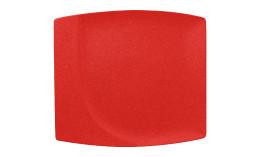 Neofusion, Teller flach quadratisch 320 x 290 mm ember
