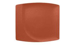 Neofusion, Teller flach quadratisch 320 x 290 mm terra