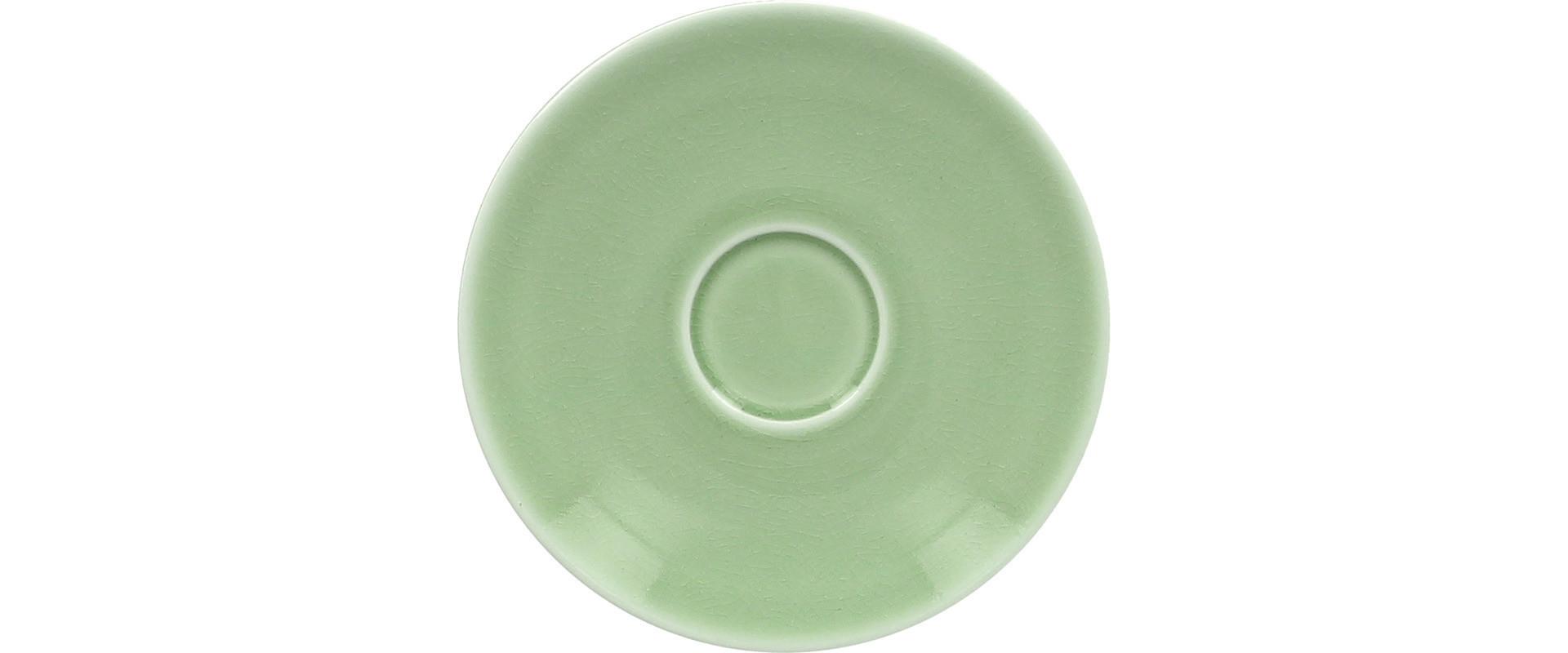 Vintage, Kaffee-Untertasse ø 150 mm plain-green