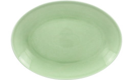 Vintage, Platte oval 360 x 270 mm plain-green