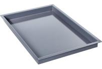 Behälter, Bäckernorm 600 x 400 x 60 mm / granitemailliert