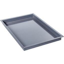 Behälter, Bäckernorm 600 x 400 x 20 mm / granitemailliert