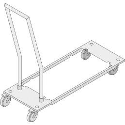 Transportwagen für Behälter / integrierter Fettablauf für Combi-Duo