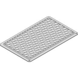 Kreuz- und Streifen-Grillrost GN 1/1 / 530 x 325 mm / TriLax