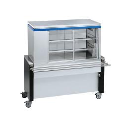 Rollito Aufsatzvitrine ohne Unterbau / mit Kühlmaschine links / 9 x GN 1/1