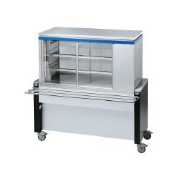 Rollito Aufsatzvitrine ohne Unterbau / mit Kühlmaschine rechts / 9 x GN 1/1