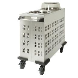 Röhrenstapler fahrbar / unbeheizt mit Lüftungsschlitzen / Stapelhöhe 2 x 600 mm
