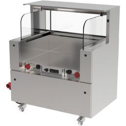 Frontcooking-Station V-ACS-1100 d3 / ohne Lichtaufsatz / digitale Steuerung