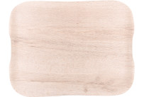 Serviertablett 430 x 330 x 16 mm Polyester + Glasfaser oak
