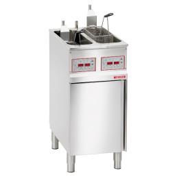 Elektro-Fritteuse 2 x 9,00 l / 2 x 8,00 kW / inkl. Frittierkorb