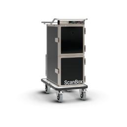 Speisentransportwagen 2 x 4 GN 1/1-65 statisch beheizt + Peltierkühlung