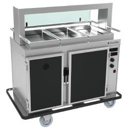 Speisenausgabewagen Food2Go AC7 + H7 / gekühlt + beheizt / 7 + 7 x GN 1/1