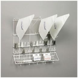 Spritzbeutelaufhänger 500 x 500 mm weiß beschichtet