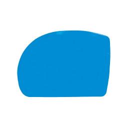 Teigschaber asymmetrisch 128 x 90 mm kleine Ausführung blau