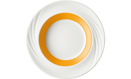 Donna Senior, Spezialteller tief mit Fahne ø 231 mm / 0,38 l orange