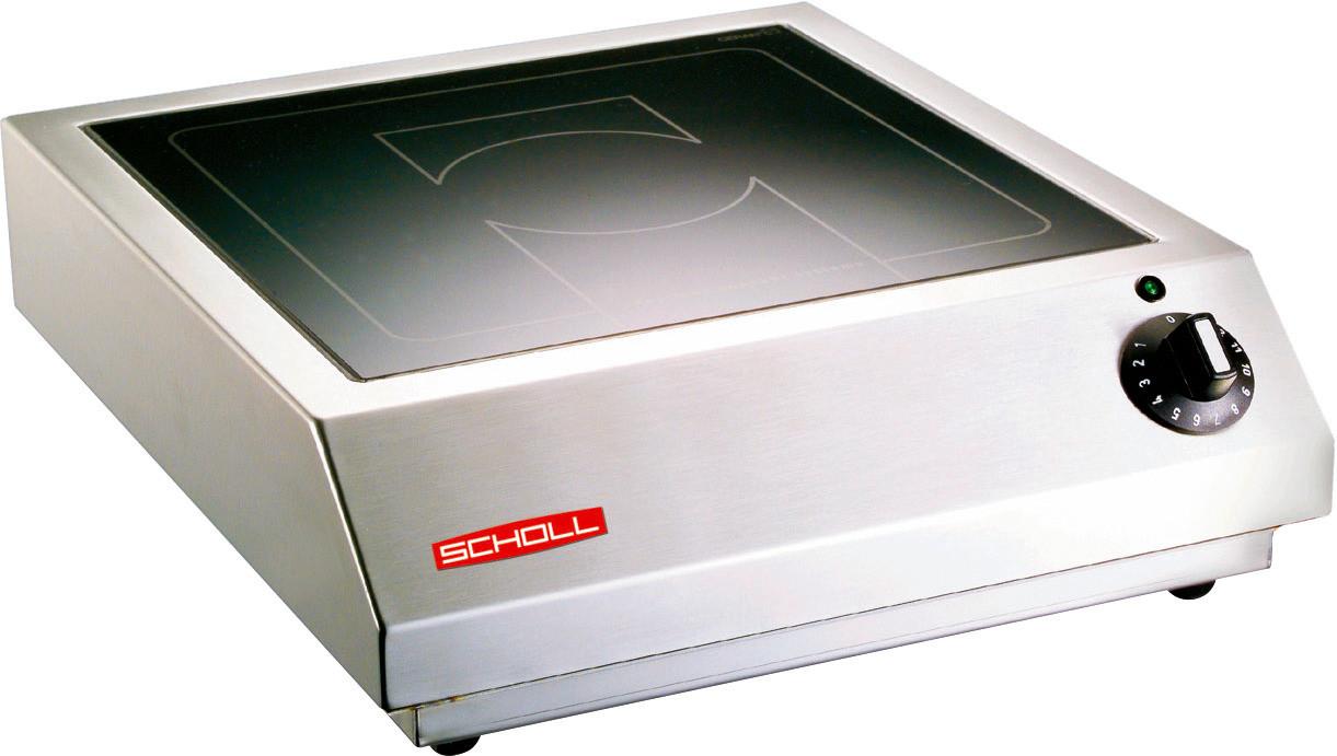 Induktions-Tischgerät 1 Heizzone / 5,0 kW / Feld 320 x 320 mm / Auftischgerät