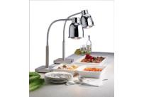 Buffet-Wärmelampe 250 W / 700 mm hoch / verchromt / Fußplatte 200 x 200 x 40 mm
