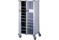 Tablett-Abräumwagen 2-teilig mit Türen / für 14 GN-Tabletts / 150 mm Abstand