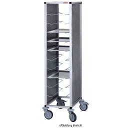 Tablett-Abräumwagen 1-teilig / für 14 GN-Tabletts / 150 mm Abstand