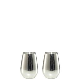 Vina Shine, Wasserbecher 2er Set ø 81 mm / 0,40 l silber