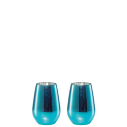 Vina Shine, Wasserbecher 2er Set ø 81 mm / 0,40 l blau