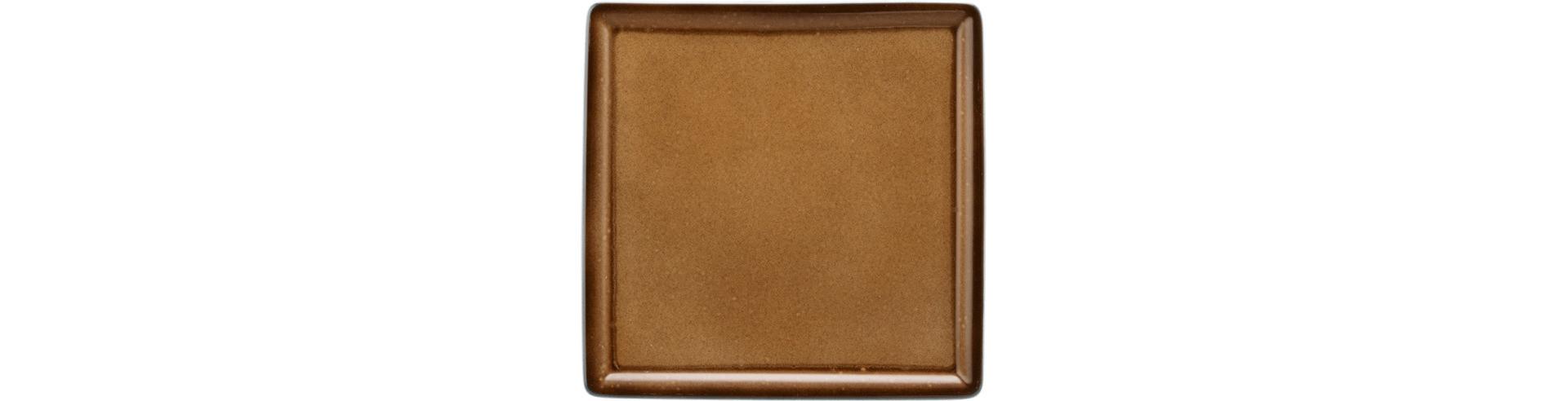 Fantastic, Platte quadratisch 160 x 160 mm caramel