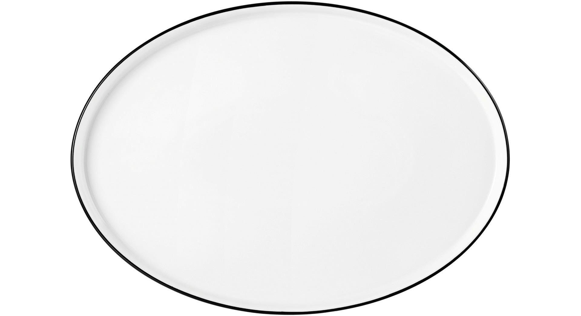 Good Mood Black Line, Teller flach oval 294 x 210 mm