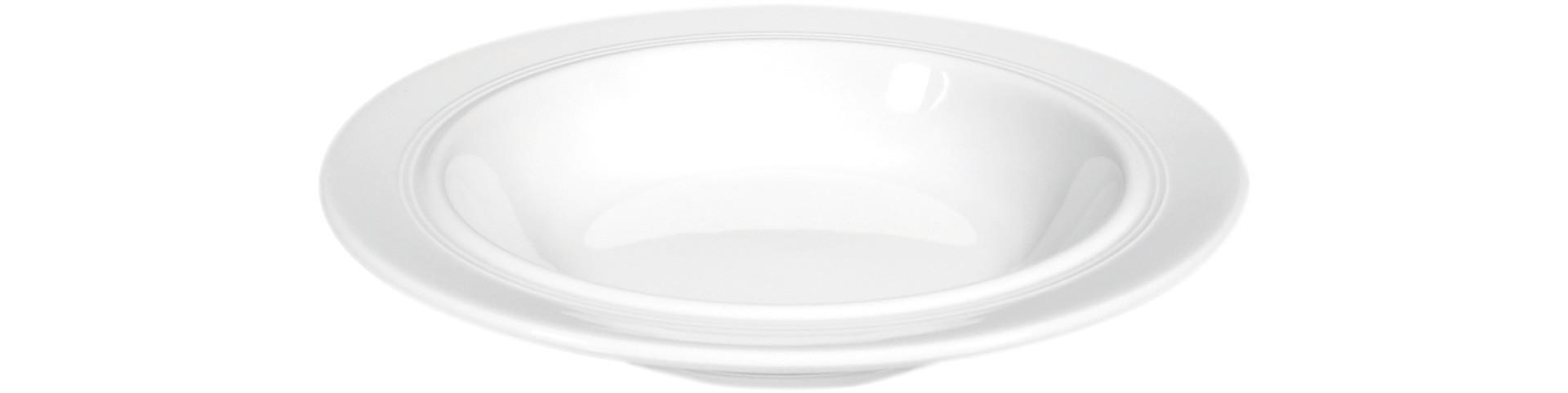 Vitalis, Teller tief ø 230 mm / 0,45 l weiß uni