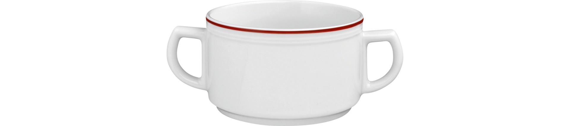 Vitalis, Suppentasse 107 x 100 mm / 0,35 l rote Linie