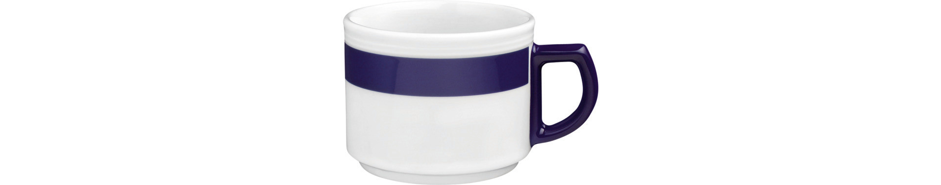 Vitalis, Tasse 80 x 77 mm / 0,18 l blaues Band