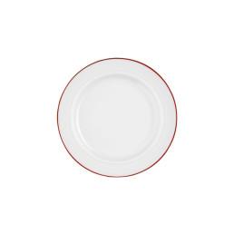 Vitalis, Teller flach ø 200 mm / 0,16 l rote Linie