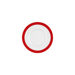 Vitalis, Untertasse 162 x 156 mm rotes Band