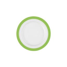 Vitalis, Teller flach ø 200 mm / 0,16 l grünes Band