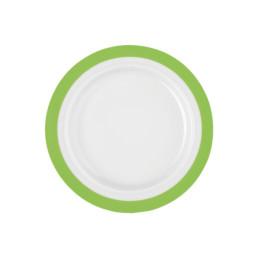 Vitalis, Teller flach ø 255 mm / 0,30 l grünes Band