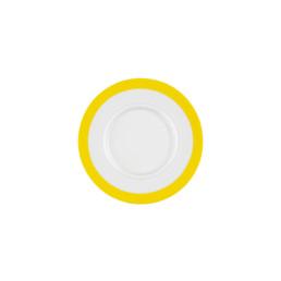 Vitalis, Suppen-Untertasse 175 x 160 mm gelbes Band