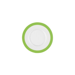 Vitalis, Untertasse 162 x 156 mm grünes Band