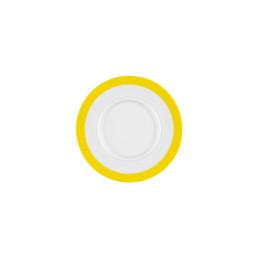 Vitalis, Untertasse 162 x 156 mm gelbes Band
