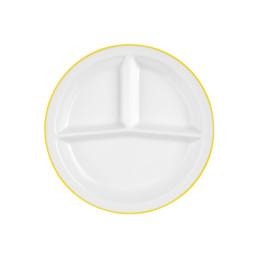 Vitalis, Platte rund 3 tlg. 258 x 254 mm gelbes Band