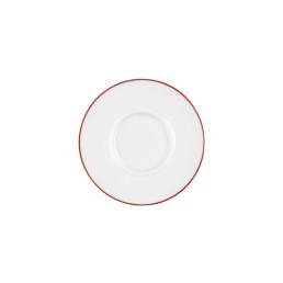 Vitalis, Suppen-Untertasse 175 x 160 mm rote Linie
