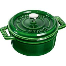 Mini Cocotte rund ø 100 mm basilikumgrün
