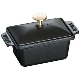 Terrine eckig 150 x 110 mm schwarz