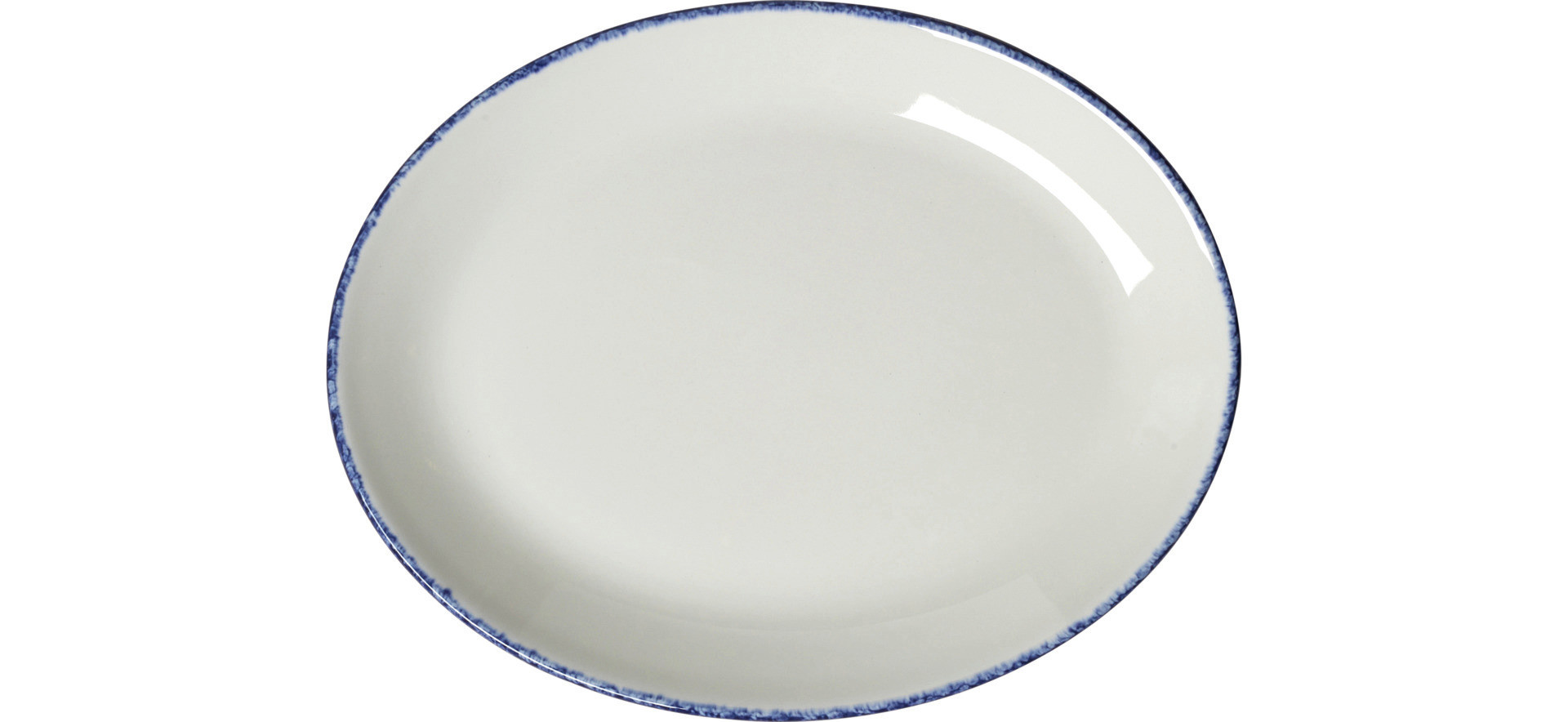 Blue Dapple, Coupplatte oval 203 mm