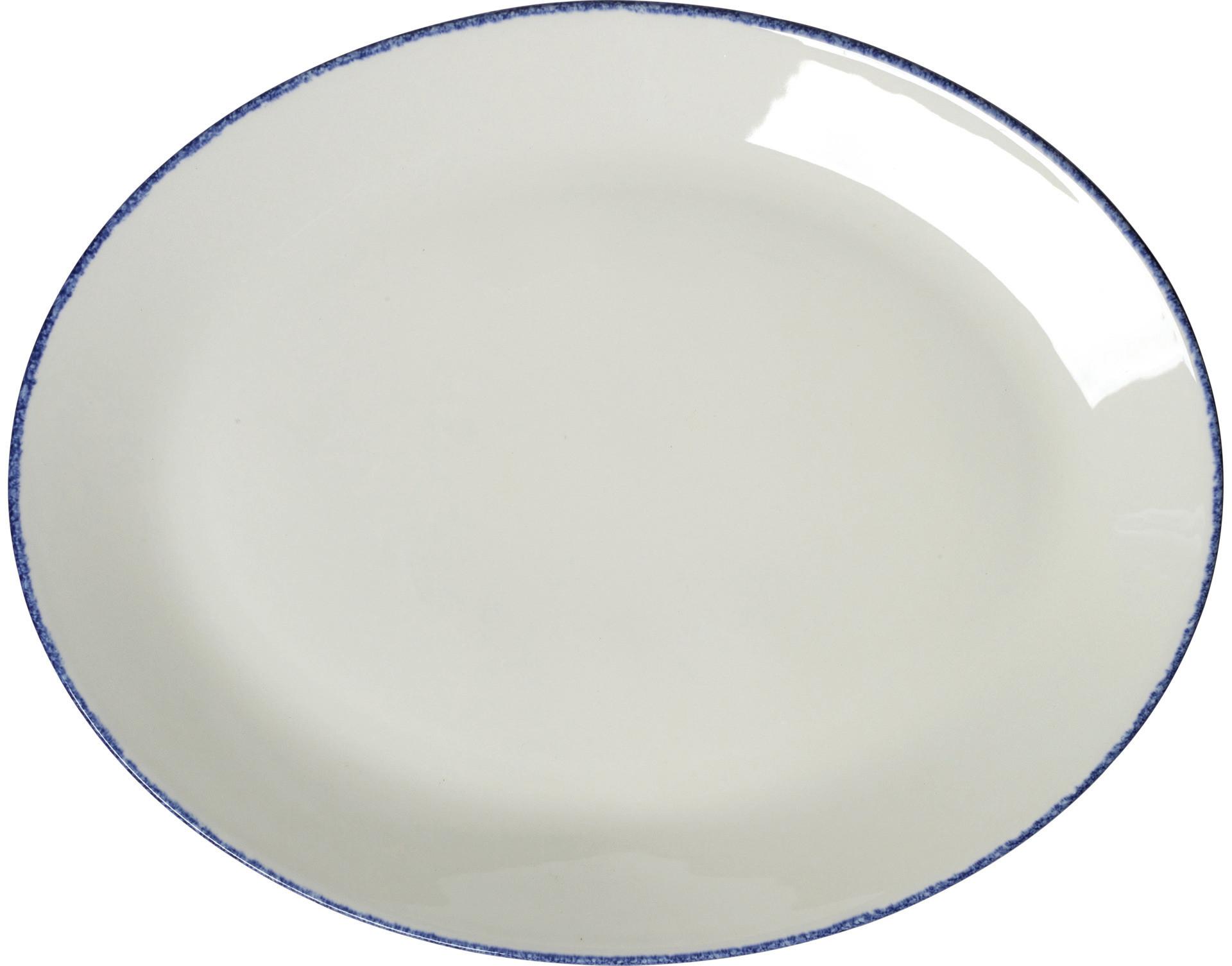 Blue Dapple, Coupplatte oval 343 mm
