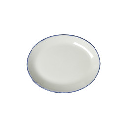 Blue Dapple, Coupplatte oval 203 mm