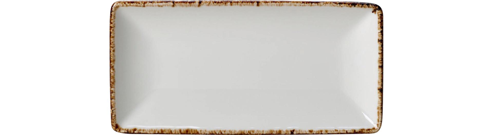 Brown Dapple, Platte six rechteckig 200 x 100 mm