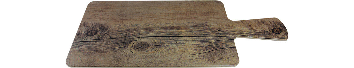 Driftwood, Servierbrett rechteckig 300 x 180 mm mit Griff / Holzoptik