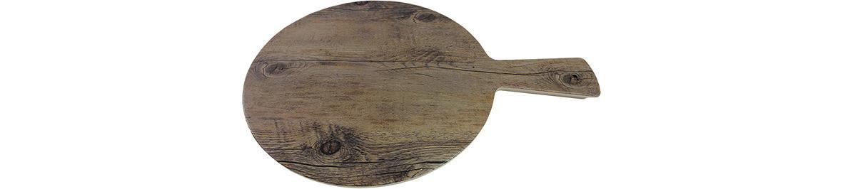 Driftwood, Servierbrett rund ø 180 mm mit Griff Holzoptik