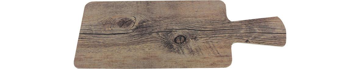 Driftwood, Servierbrett rechteckig 270 x 140 mm mit Griff / Holzoptik